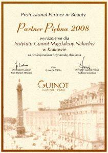 Nagroda - Wyróżnienie Professional Partner in Beauty 2008